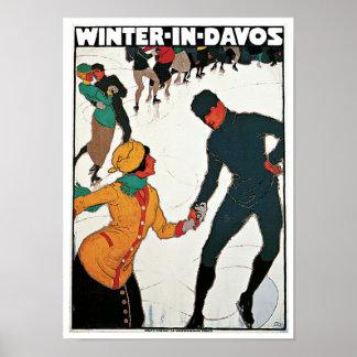 Invierno en Davos Póster