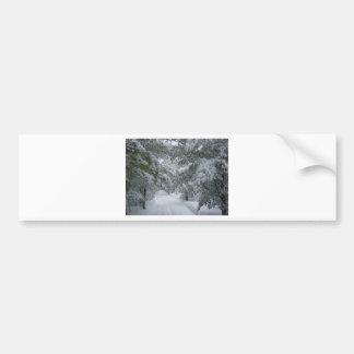 Invierno en el bosque pegatina de parachoque