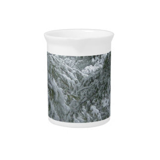 Invierno en el bosque jarra para bebida
