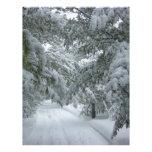 Invierno en el bosque plantilla de membrete