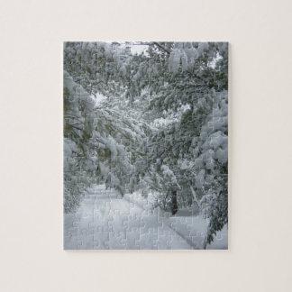 Invierno en el bosque puzzles