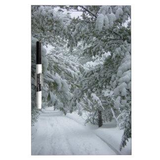 Invierno en el bosque tablero blanco