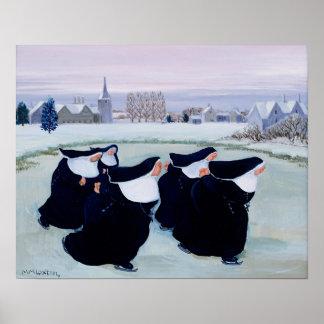 Invierno en el convento póster