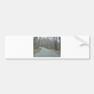 Invierno en el ms de la ruta verde del rastro de etiqueta de parachoque