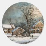 Invierno en el país, mañana del frío de A Pegatina Redonda