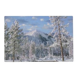 Invierno en el parque nacional de Yellowstone,