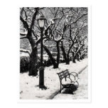 Invierno en el parque - postal