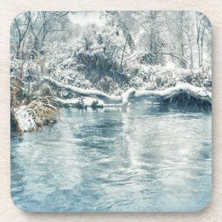 Invierno en el río de Beaverhead, Montana Posavasos De Bebidas