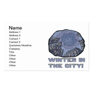 Invierno en la ciudad 2 tarjetas de visita
