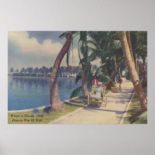 Invierno en la Florida, poster 1908