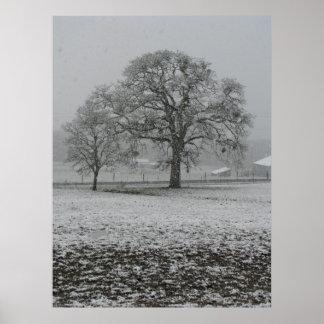 Invierno en la granja 2 de 2 poster