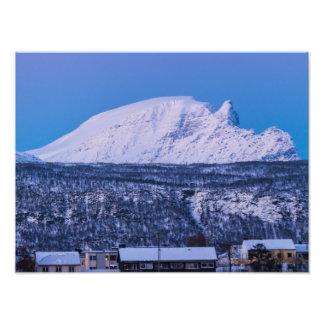 Invierno en la impresión de la foto de Narvik