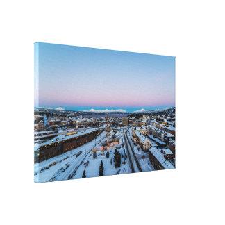 Invierno en la impresión de la lona de Narvik Impresiones En Lona