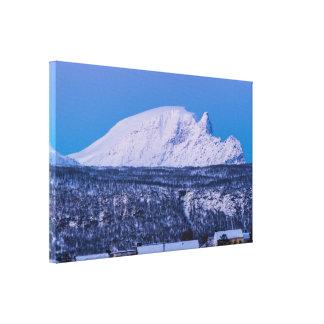 Invierno en la impresión de la lona de Narvik Impresion De Lienzo