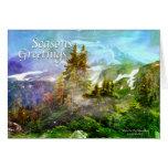 Invierno en la tarjeta de felicitación de las mont