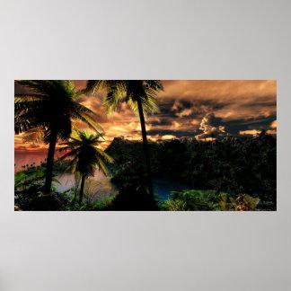 Invierno en las zonas tropicales - extremo poster