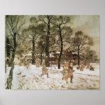 Invierno en los jardines de Kensington Posters