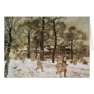 Invierno en los jardines de Kensington Tarjeta