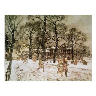 Invierno en los jardines de Kensington Postal