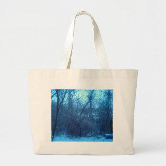 Invierno en los productos de bosque bolsa tela grande