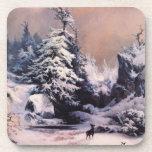Invierno en los Rockies - 1867 Posavasos