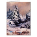 Invierno en los Rockies - 1867 Tarjeta