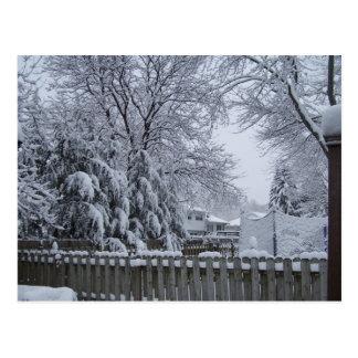 Invierno en New Jersey Tarjeta Postal