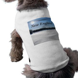 Invierno en Nueva Inglaterra Camisetas De Perro