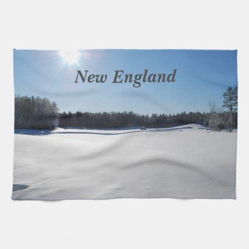 Invierno en Nueva Inglaterra Toalla