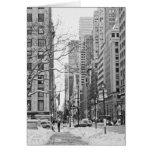 Invierno en Nueva York Notecard Felicitación