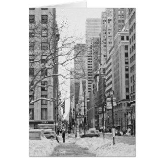 Invierno en Nueva York Notecard Tarjeta Pequeña
