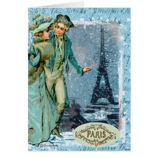 Invierno en París Tarjeta De Felicitación