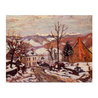 Invierno en Santo-Sauves-d'Auvergne de Armand Postales