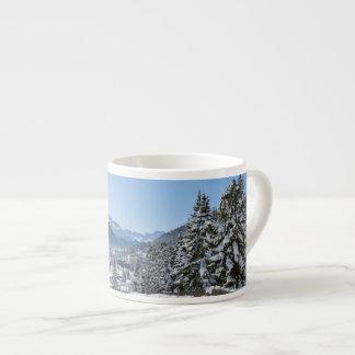 Invierno en St Moritz Taza Espresso