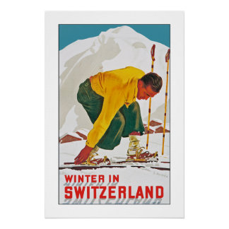 Invierno en Suiza Posters