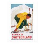 Invierno en Suiza Tarjetas Postales