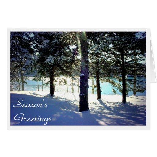 Invierno en Sullivan, Maine Tarjeta De Felicitación