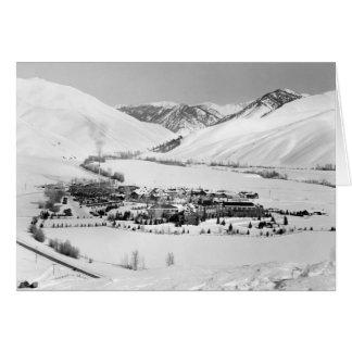 Invierno en Sun Valley, Idaho, circa 1940 Tarjeta Pequeña