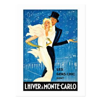 Invierno europeo del vintage en el viaje de Monte  Tarjeta Postal