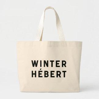 Invierno-Hébert - tote tipográfico Bolsa Tela Grande