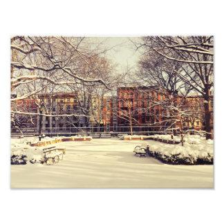 Invierno hermoso de Nueva York Arte Fotografico