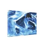 Invierno + Hielo azul claro del navidad Lona Envuelta Para Galerías