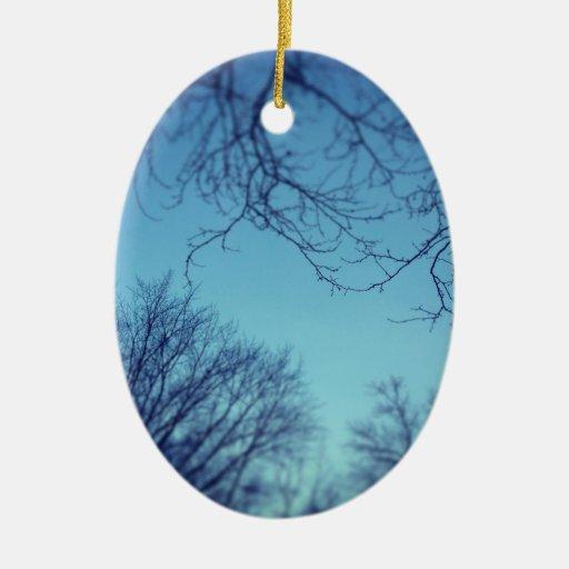 Invierno ido adorno navideño ovalado de cerámica