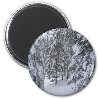 invierno imán redondo 5 cm