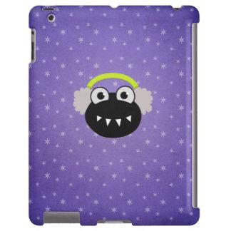 Invierno lindo púrpura de Earflaps del insecto del Funda Para iPad