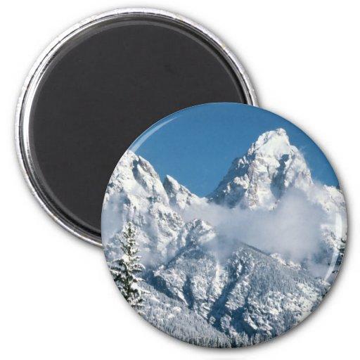 Invierno magnífico de Teton Imán Para Frigorífico