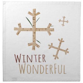 Invierno maravilloso servilleta