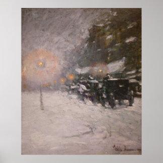 Invierno, medianoche - Childe Hassam Posters