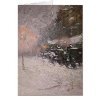 Invierno, medianoche - Childe Hassam Tarjeta De Felicitación