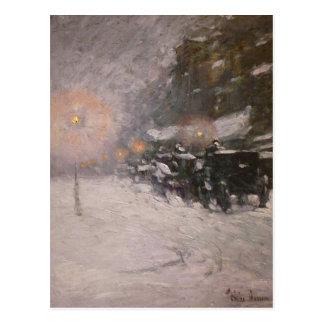 Invierno medianoche - Childe Hassam
